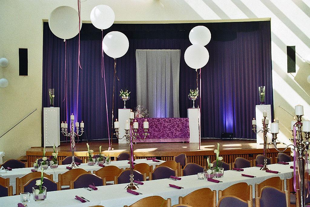 Hochzeit eppelborn bubach hirschberghalle hochzeitsparty for Raumgestaltung hochzeit
