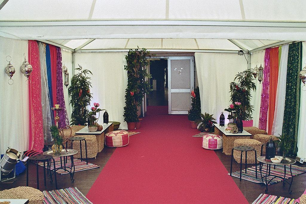 Hochzeit Merzig Zeltpalast, Vorzelt orientalisch angehaucht - ca 500 Personen Gastrozelt