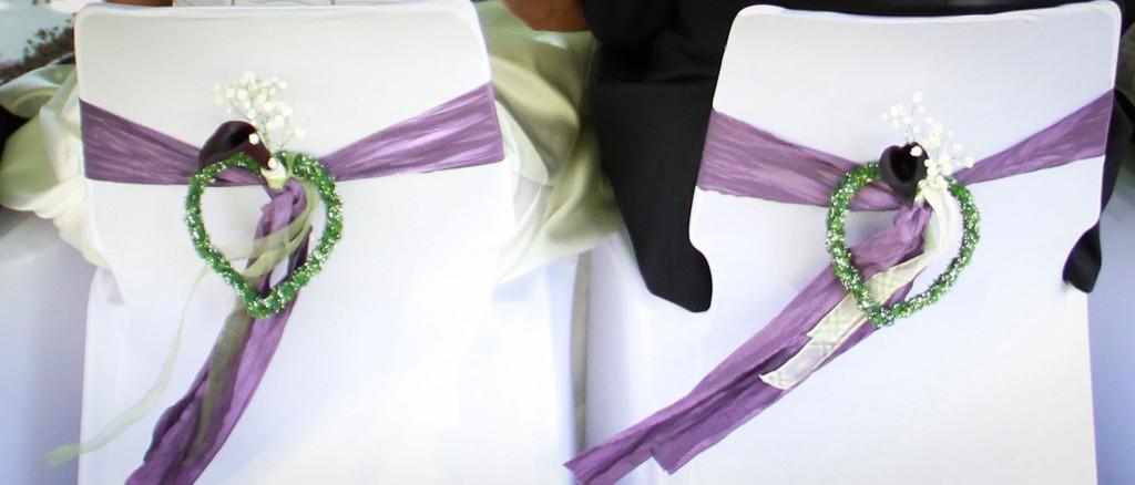 Hochzeitsdekoration Stühle Brautpaar - Unter der Linde