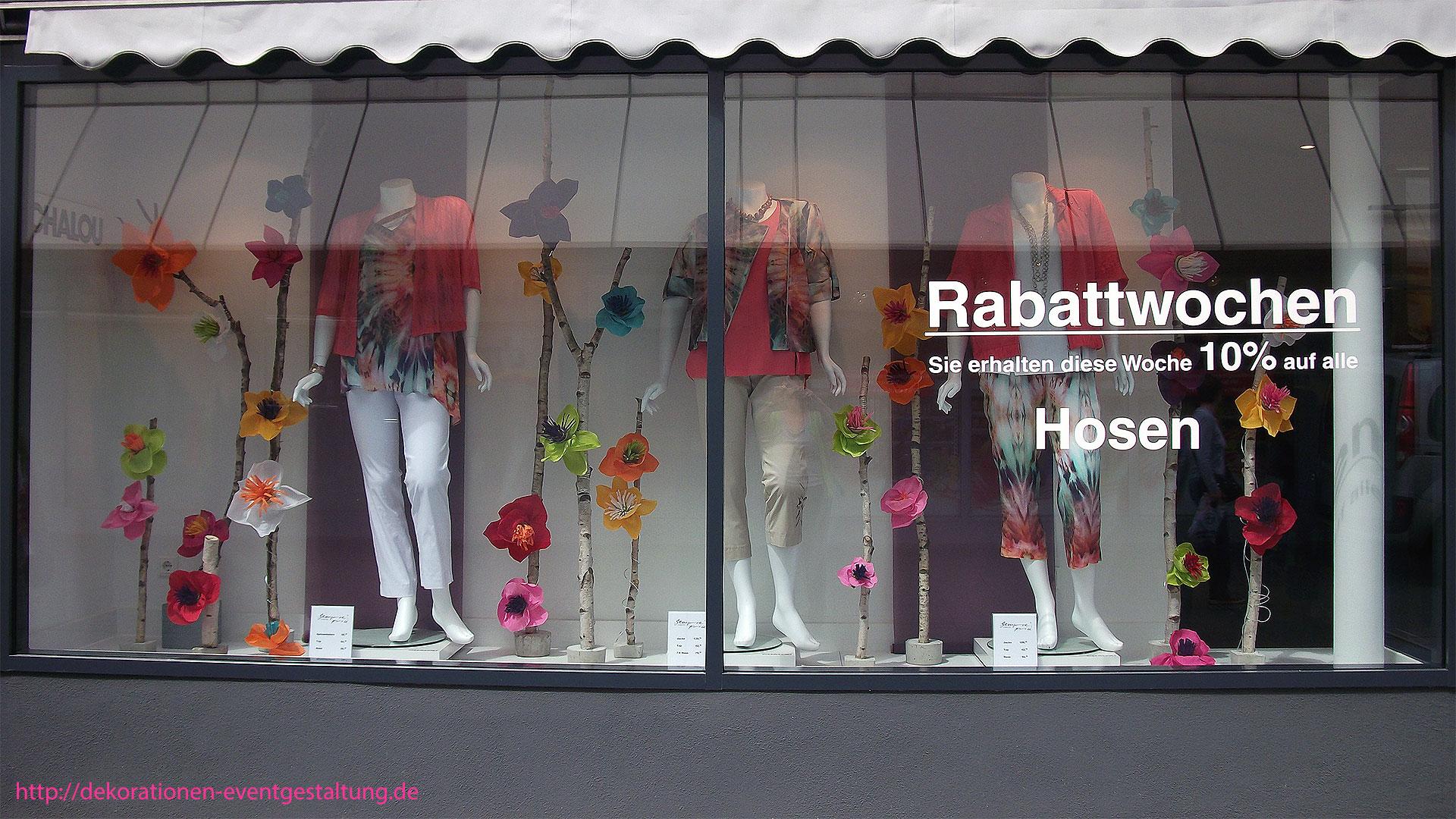 Schaufensterdekoration Chalou Mainz » dekorationen & eventgestaltung