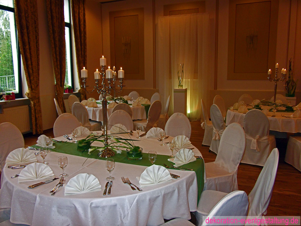 Hochzeitsdekoration dekorationen eventgestaltung for Raumgestaltung hochzeit